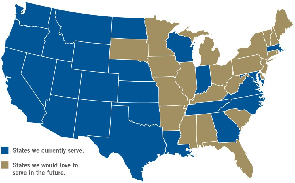 States that Stauffer and Associates currently serves
